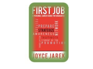 First Job book Jacket in red and green